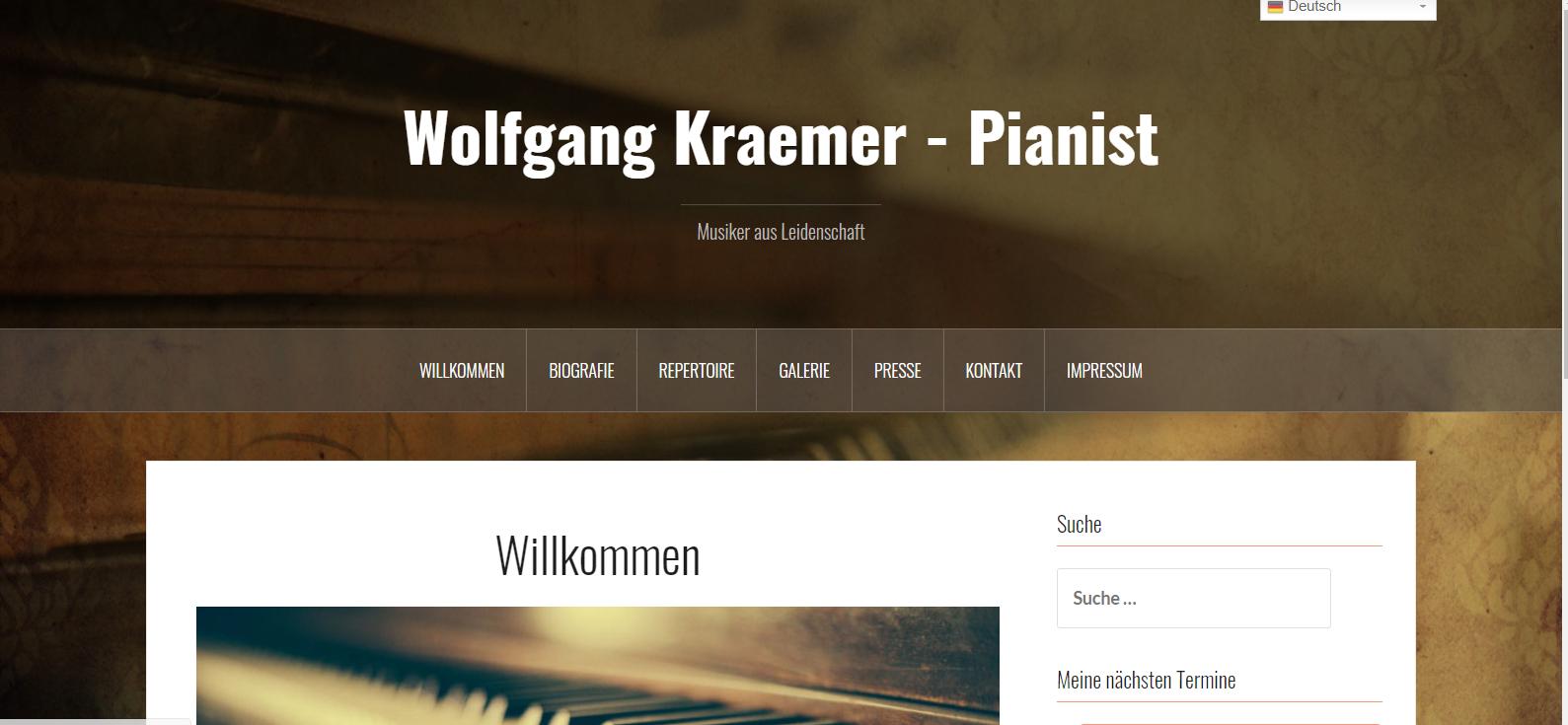 Pianist Wolgang Kraemer